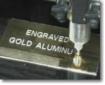 GOLD ALUMINUM ENGRAVING