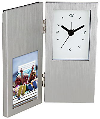 HINGED CLOCK & PICTURE FRAME