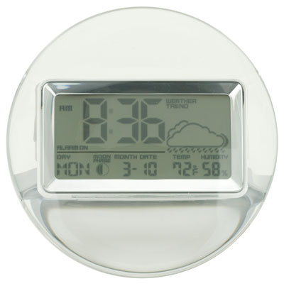 ACRYLIC CLOCK/ WEATHER STATION