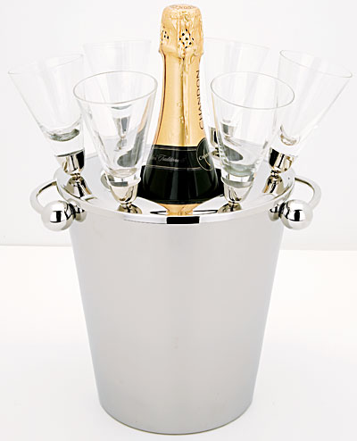 CHAMPAGNE ICE BUCKET SET