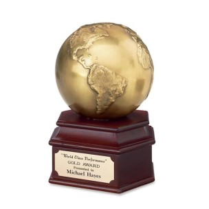 Antique Gold Globe