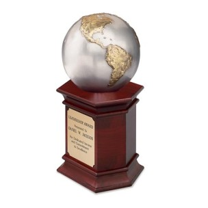 Triple-Plated Antique Gold and Silver Globe