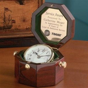 C211 Rosewood Captain's Clocks - Octagon