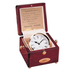 C895 Rosewood Captain's Clocks - Square