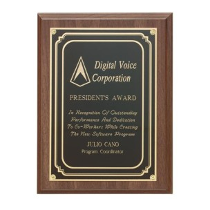 Walnut Finish Plaque