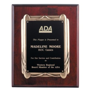 Rosewood Piano Finish Plaque with Frame Casting