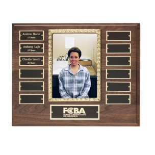 Walnut Perpetual Photo Plaque
