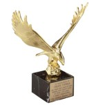 814 - Majestic Eagle on Black Marble Base