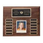 Hand Rubbed Walnut Perpetual Photo Plaque