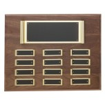 P1281 Brass Scroll Perpetual Plaque