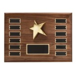 P1333 - Walnut Perpetual Star Plaque