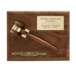 P251A - Removable Walnut Gavel Plaque